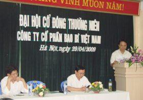 Đại hội cổ đông tháng 4 năm 2009